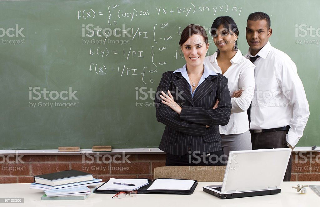 group of young teachers royalty-free stock photo