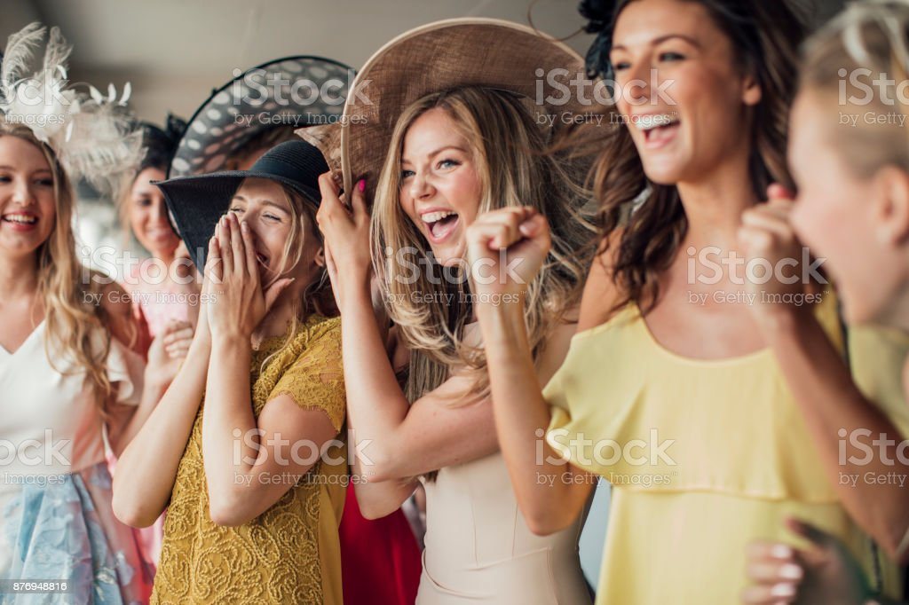 Group of Young Women stock photo