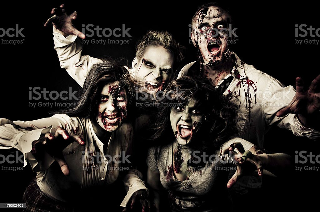 group of zombies royalty-free stock photo