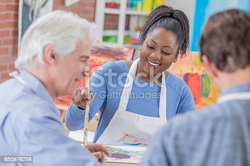 658645980 istock photo Group painting party 655976216