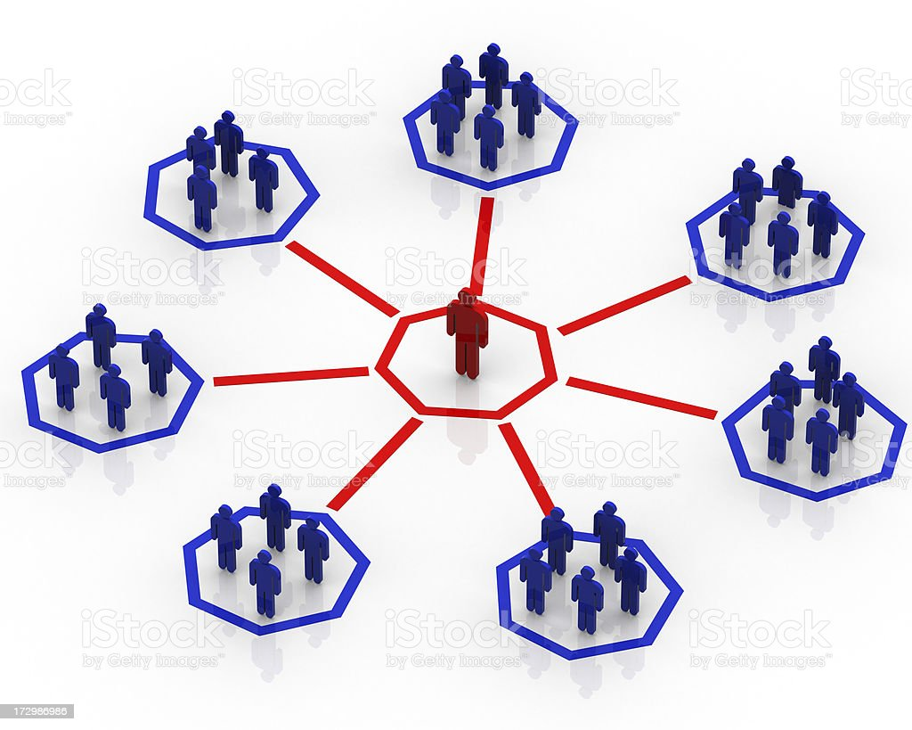 Group people - net concept royalty-free stock photo