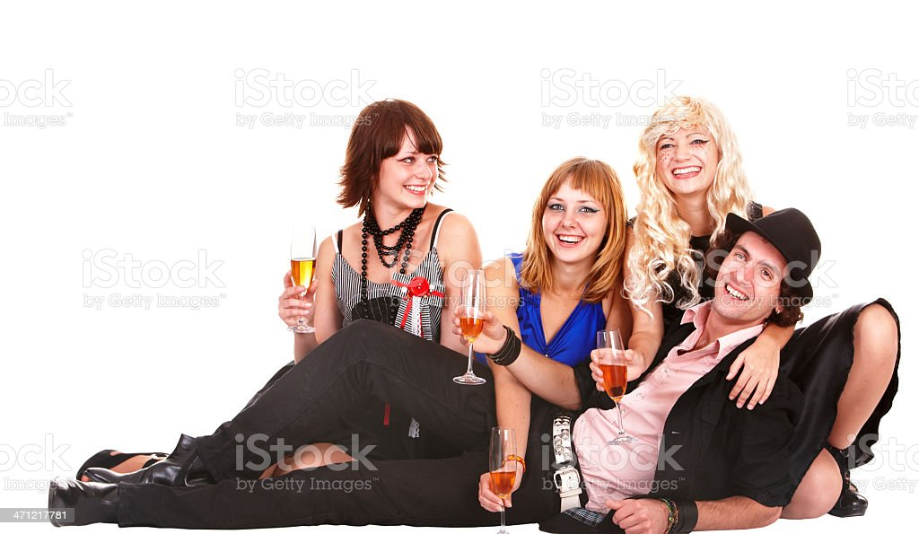 Group people with champagne glasses. royalty-free stock photo