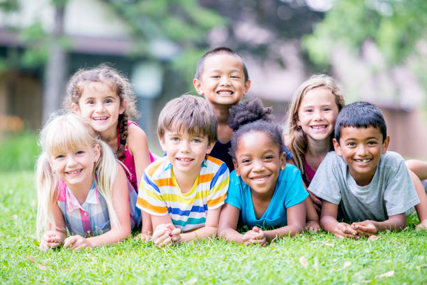 Group Photo Of Children stock photo