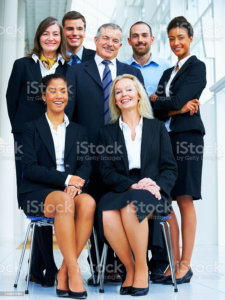Group photography of a business team royalty-free stock photo