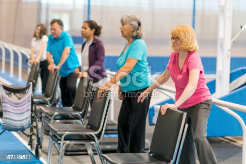 Diverse group of adults and seniors with disabilities