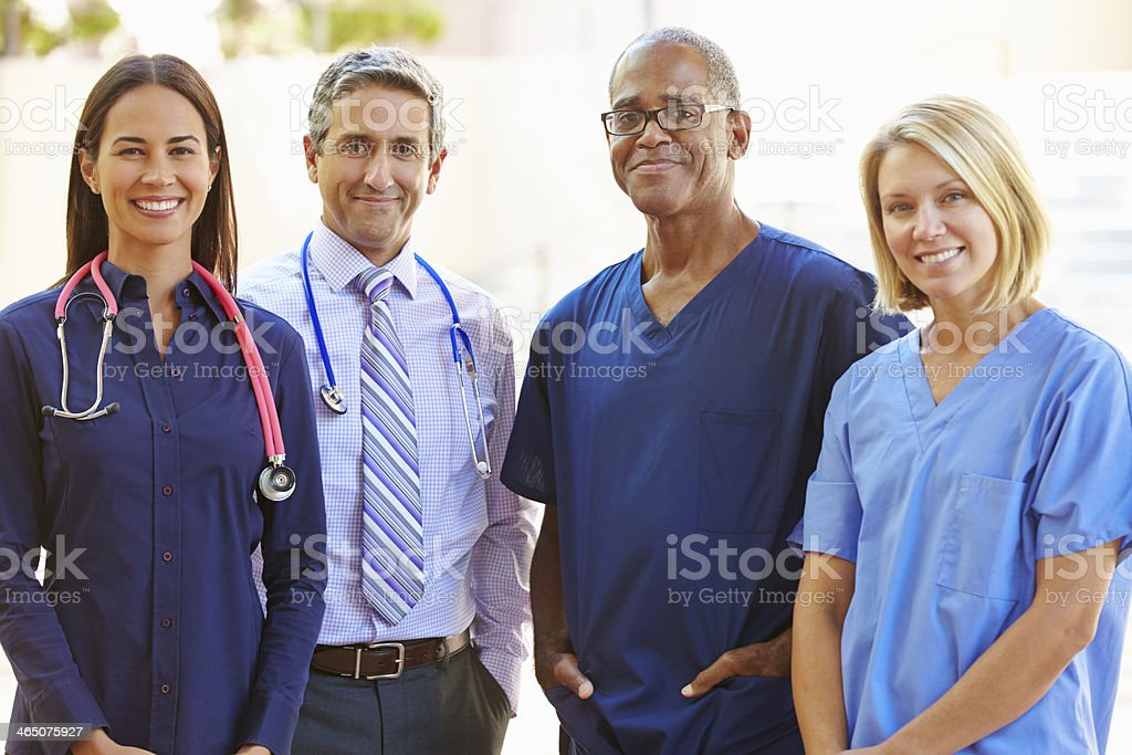 Group picture of a medical staff stock photo
