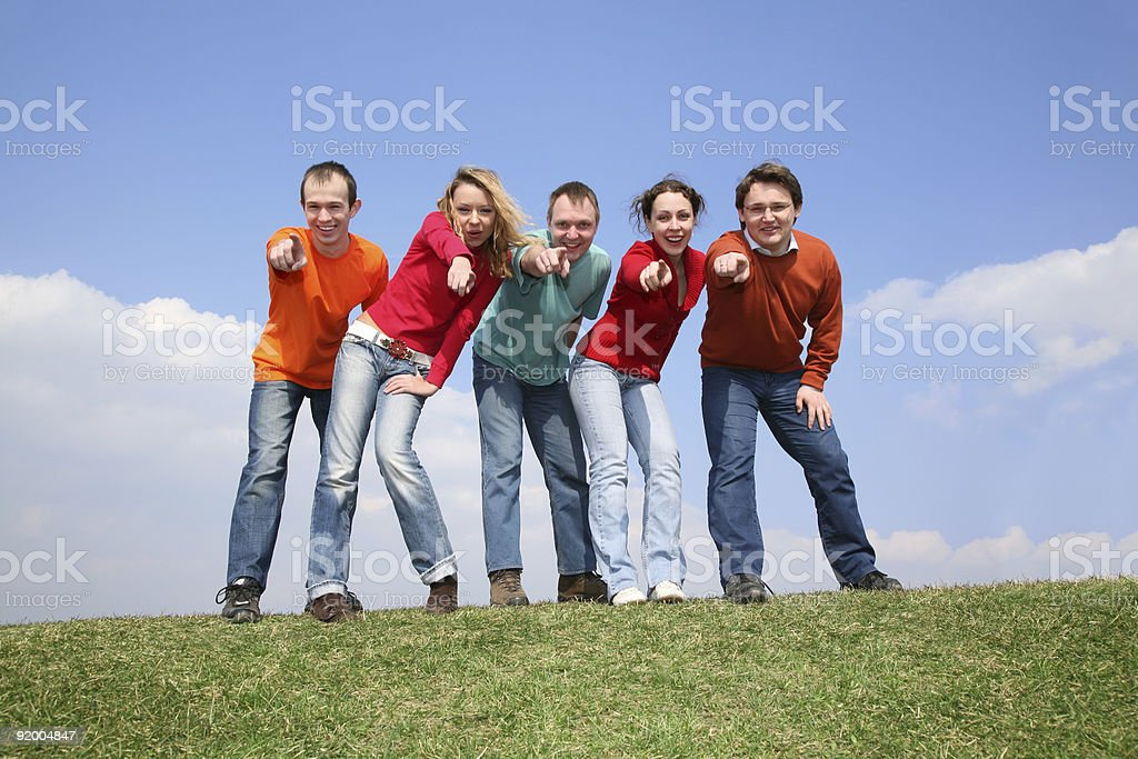 group point you royalty-free stock photo