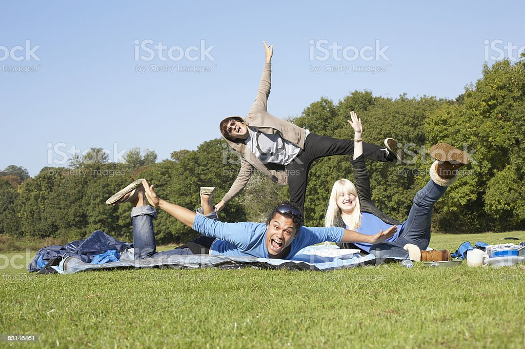 Group portrait of friends foto stock royalty-free