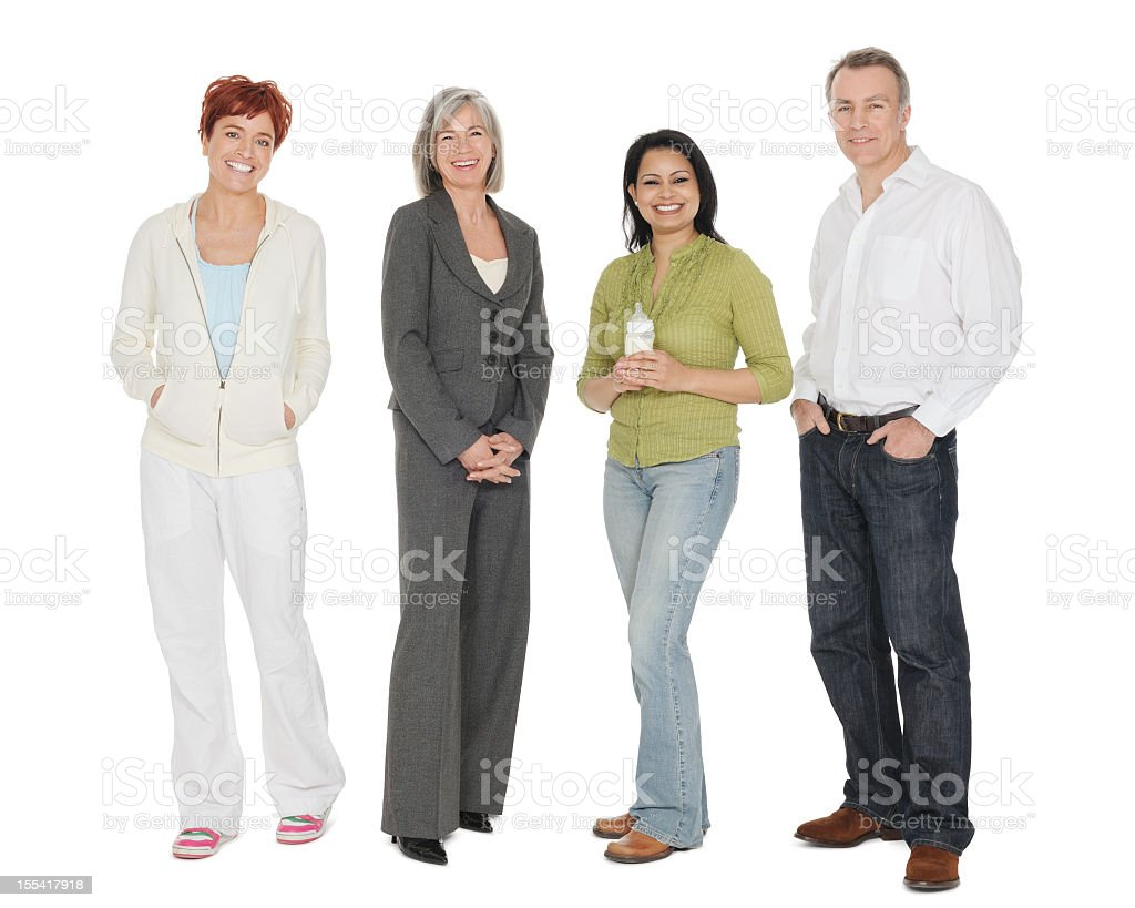 Group Portrait Of Multiracial People stock photo