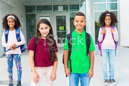 istock group pre-teen School Pupils Outside of the Classroom 1075025100