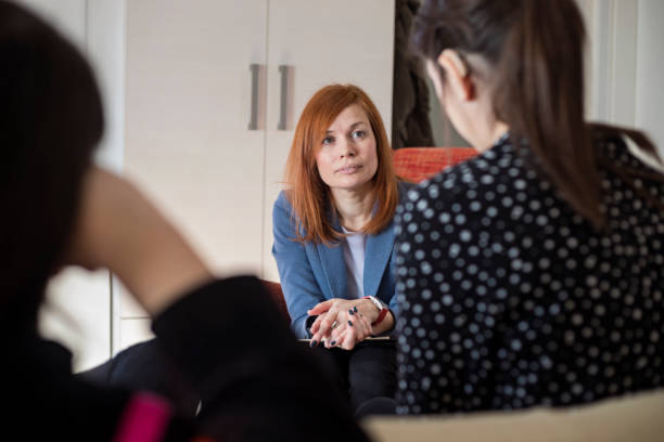 Group psychotherapy stock photo