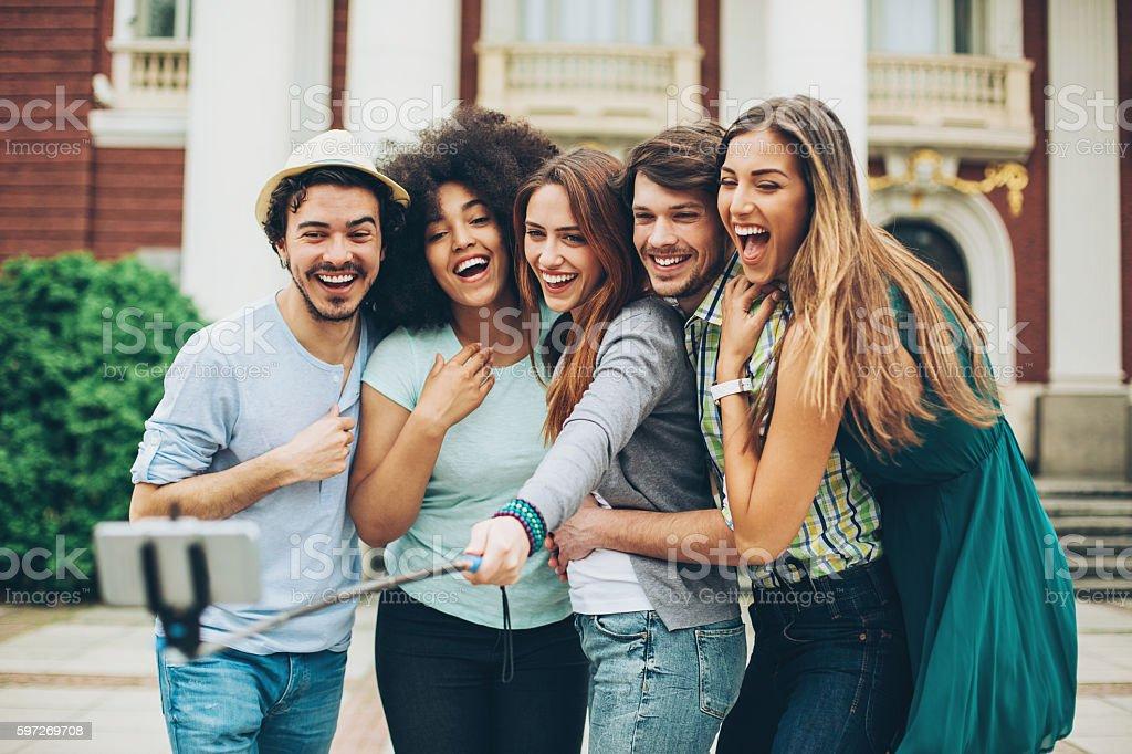 Gruppe von Schülern  Lizenzfreies stock-foto