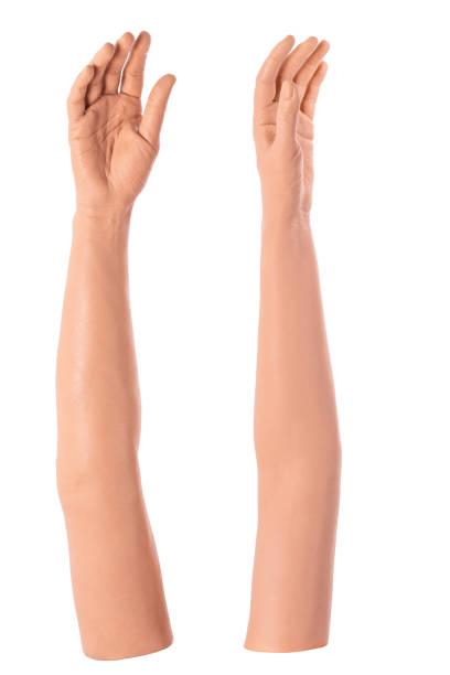 Gruppe Silikonprothese Hände, Medizin rosa Implantate für die Person – Foto