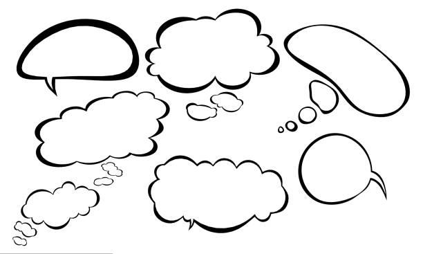組語音氣泡 - 卡通 個照片及圖片檔