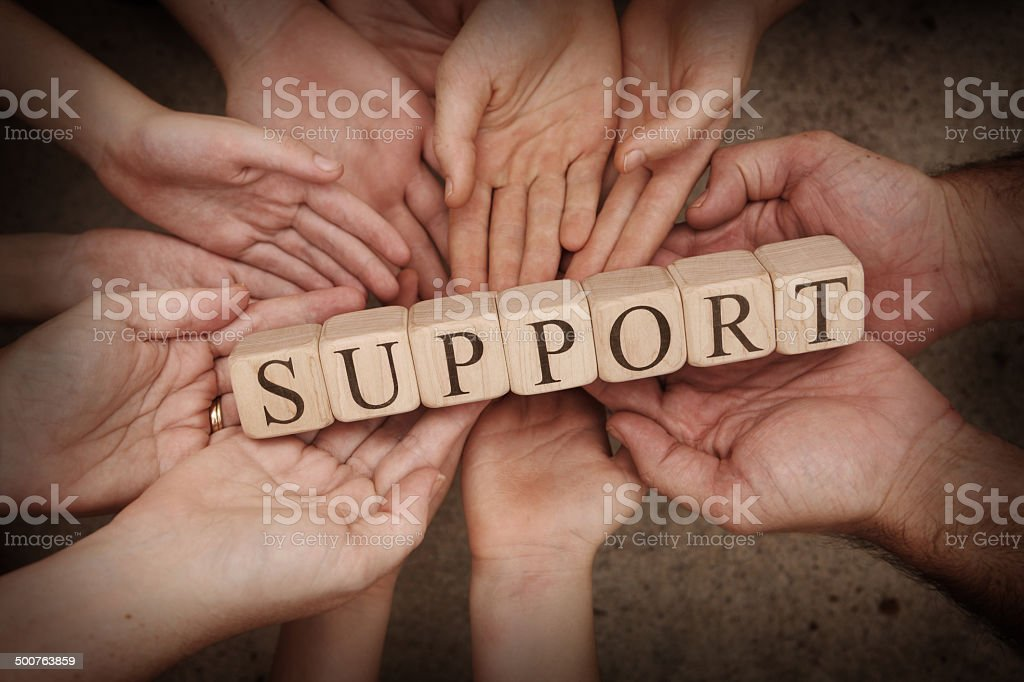 Group Support stock photo