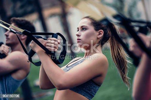 904150892 istock photo Group suspension training 904150706