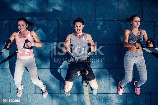 904150892 istock photo Group suspension training 904150856