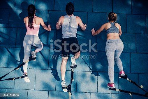 904150892 istock photo Group suspension training 904150876