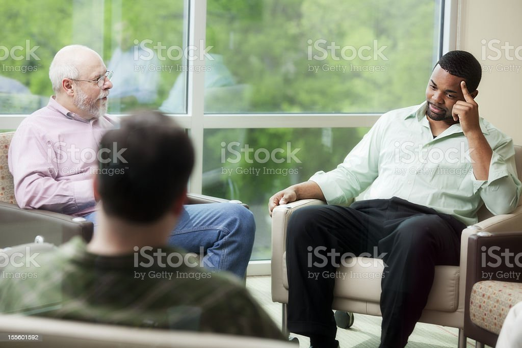 Group therapy in a circle royalty-free stock photo