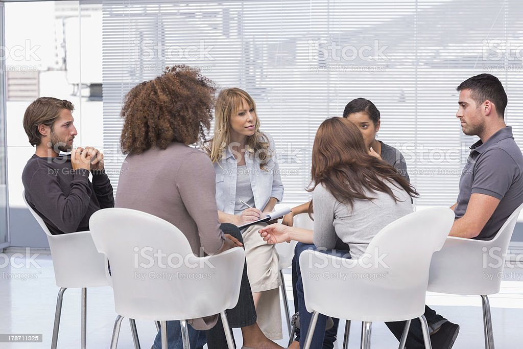 Group therapy in session royalty-free stock photo