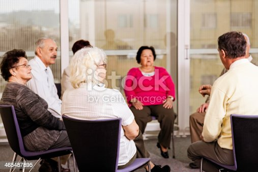 511741068 istock photo Group Therapy in the Community Center 465487895