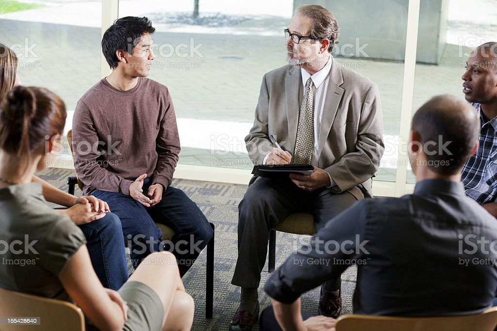 Group therapy royalty-free stock photo