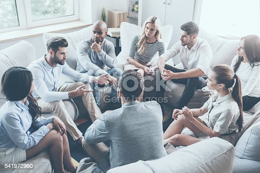 istock Group therapy. 541972960