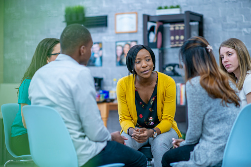 istock Group therapy session 1041156338