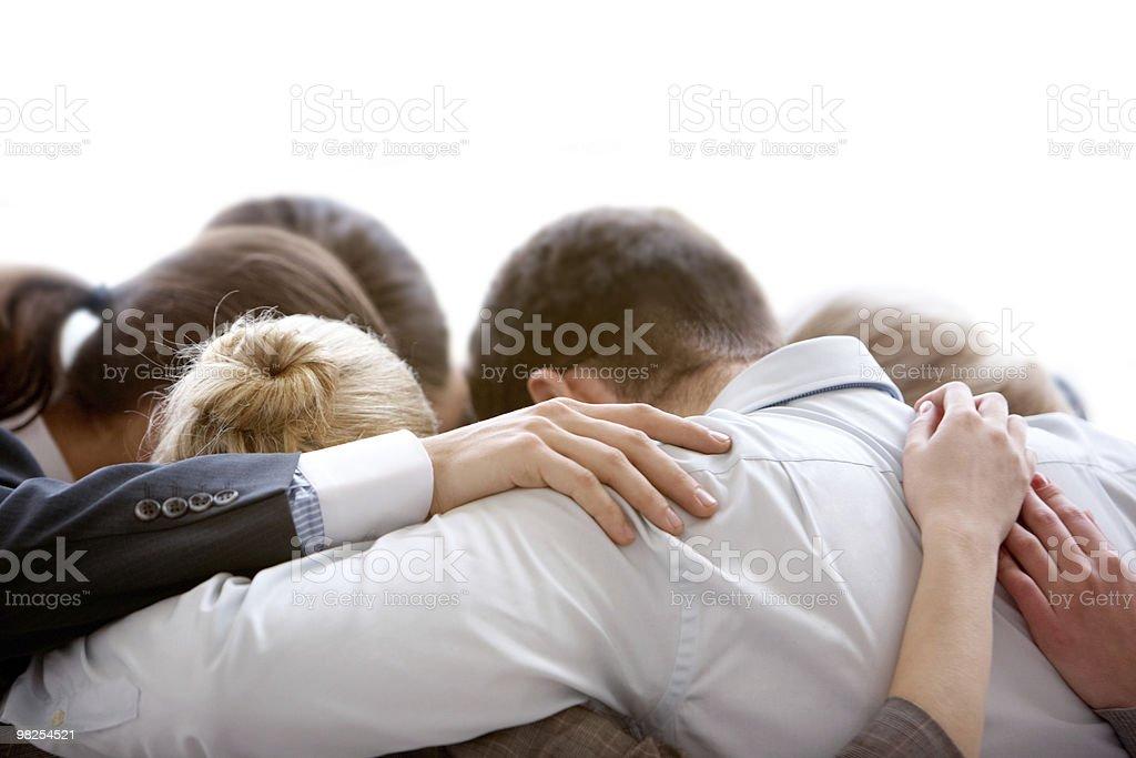 Group thinking royalty-free stock photo