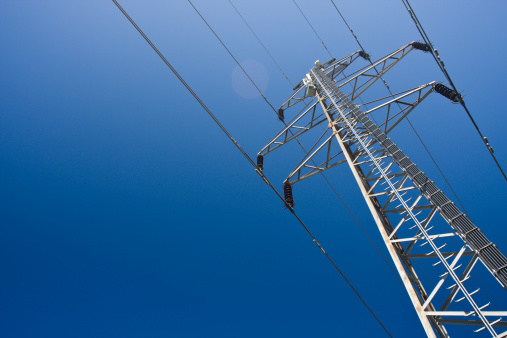 A Group View Of An Electric Tower Stock Photo - Download Image Now
