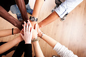 istock Group with hands together 183060490