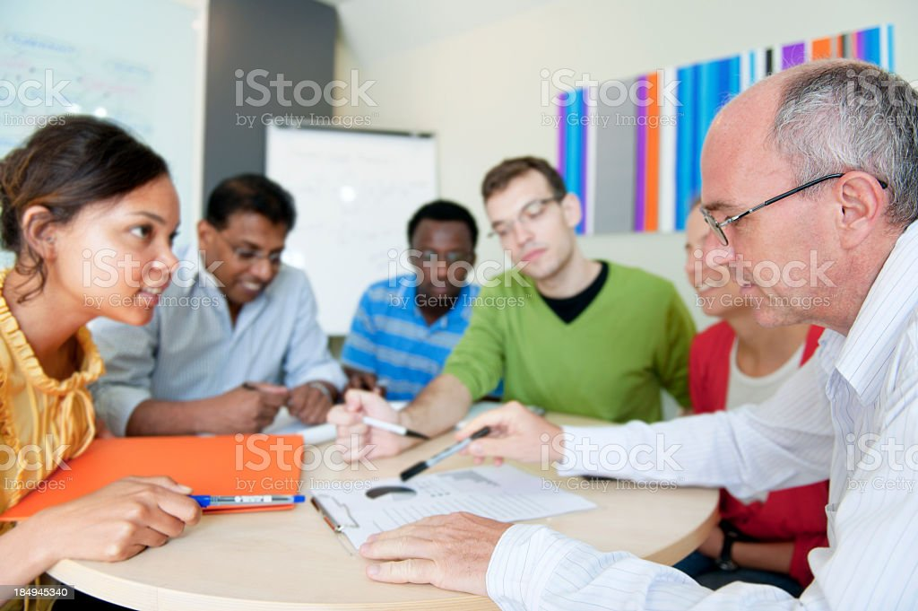 Group Working royalty-free stock photo