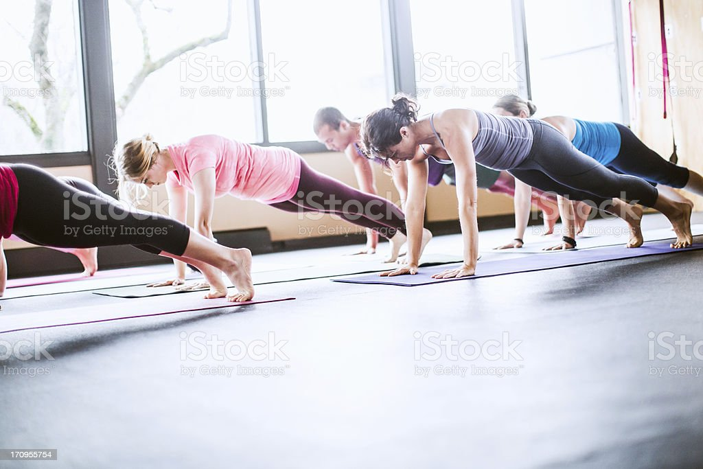 Group Yoga Class in Studio royalty-free stock photo
