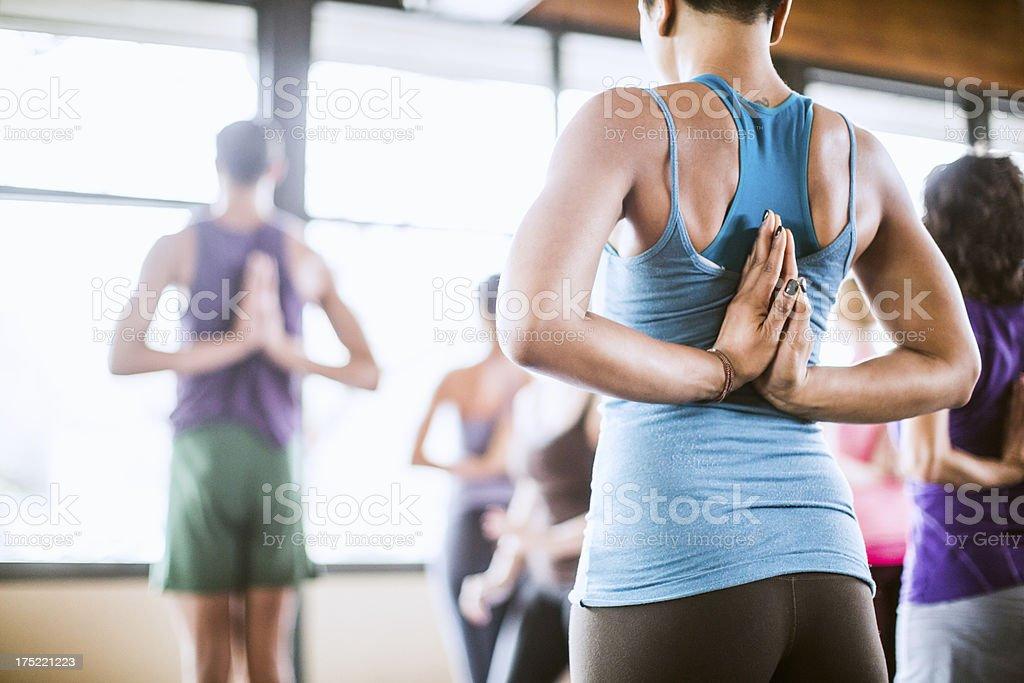 Group Yoga Class in Studio stock photo