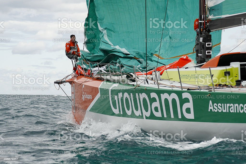 Groupama team on the Volvo Ocean Race 2.011-2.012. stock photo