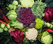 istock Grouping of cruciferous vegetables 157439382