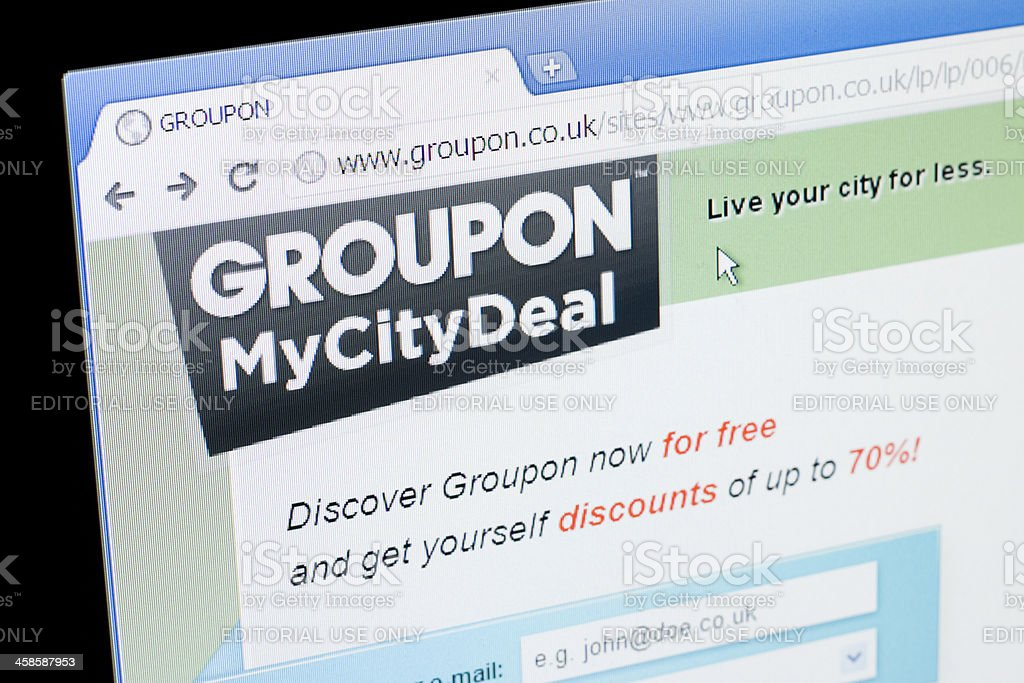 Groupon website royalty-free stock photo