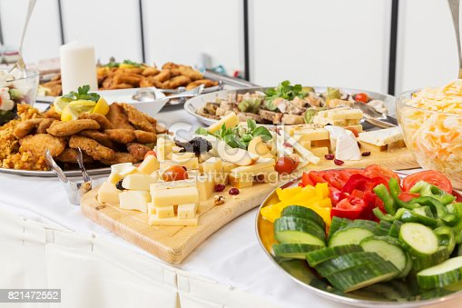 istock Groups of Buffet in the luxury Restaurant 821472552