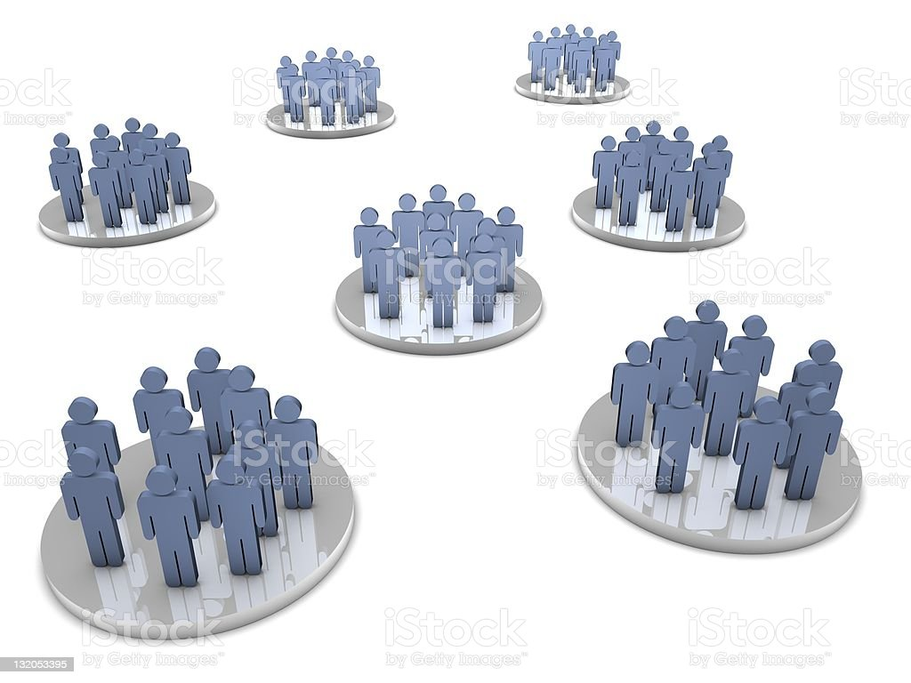 Groups of people stock photo