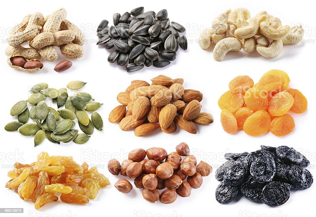 Groups various kinds of dried fruits royalty-free stock photo