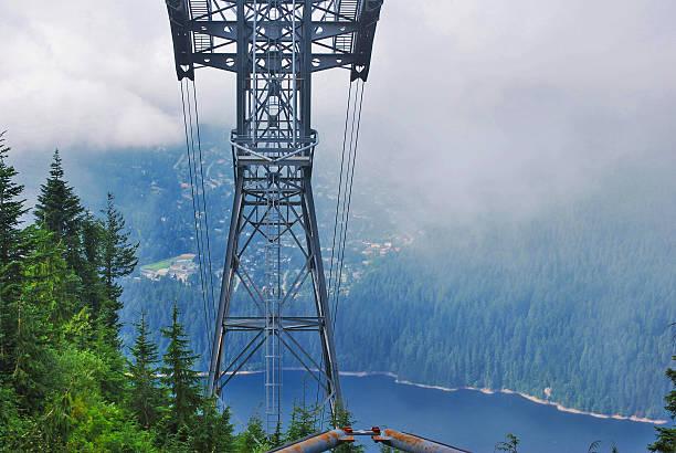 Grouse Mountain Ski lift stock photo