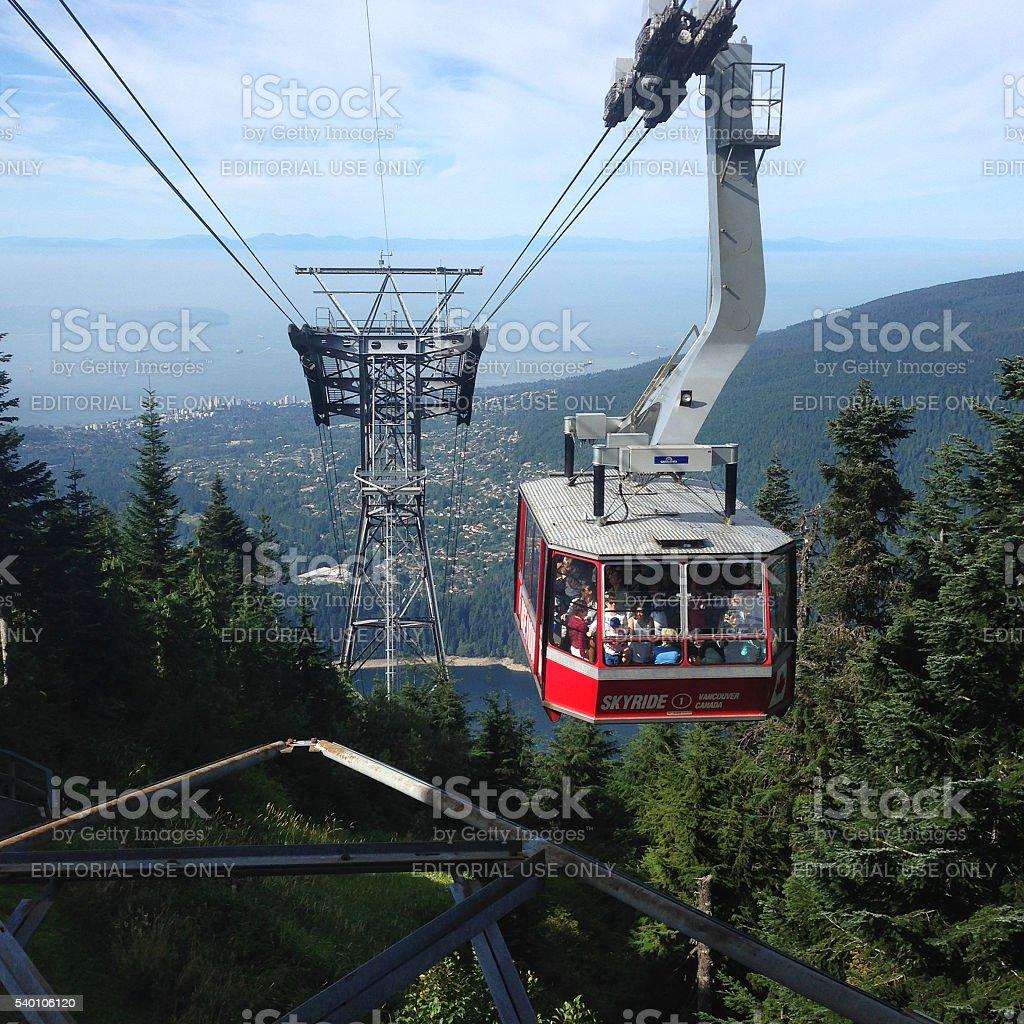 Grouse Mountain Skyride in Vancouver, Britisch-Kolumbien, Kanada – Foto