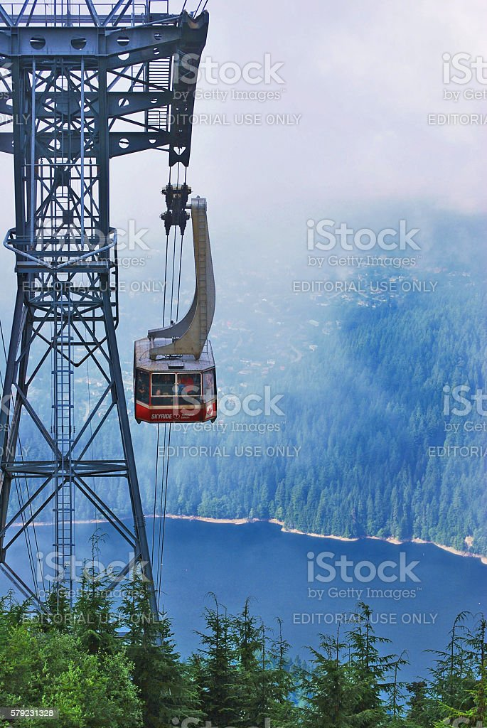 Grouse Mountain Skyride stock photo