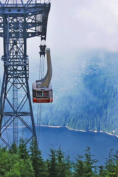 Grouse Mountain Skyride stock photo