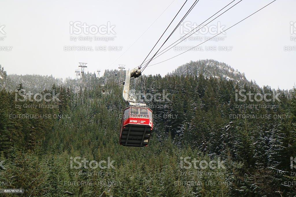 Grouse Mountain Skyride towards top of the Mountain – Foto
