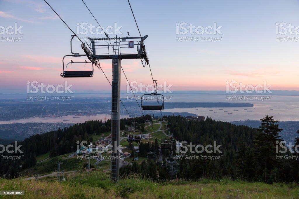 Grouse Mountain Sonnenuntergang – Foto