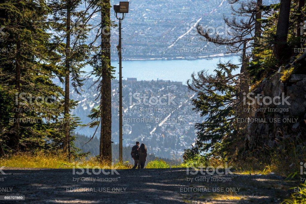Grouse Mountain - View von Vancouver – Foto