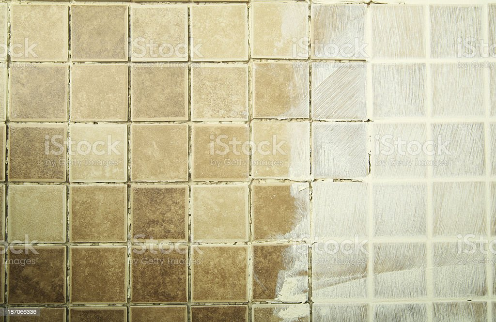 Grout in Tile royalty-free stock photo