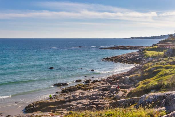 O Grove coastline stock photo