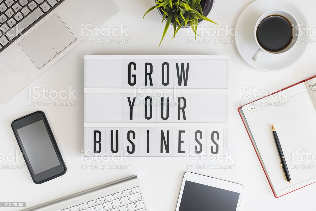 Grow your business stock photo